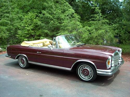 1970 mercedes benz 280se 3 5 cabriolet low miles super. Black Bedroom Furniture Sets. Home Design Ideas