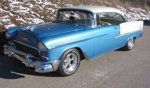 1955 Chevy Belair Hardtop Custom No Post Total Restoration