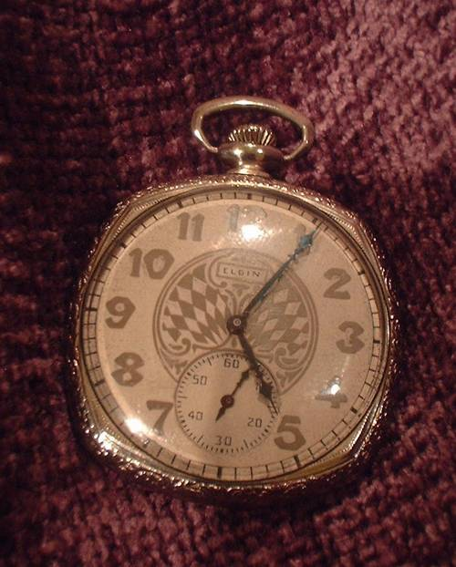 Vintage Elgin Pocket Watch 14k Gf Art Deco Beauty