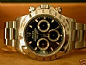Rolex Stainless Daytona Black Face F Serial 2004 NIB