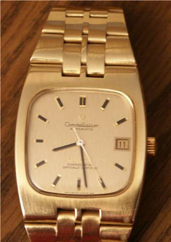 Omega Constellation Automatic Chronometer 18k Gold Men S