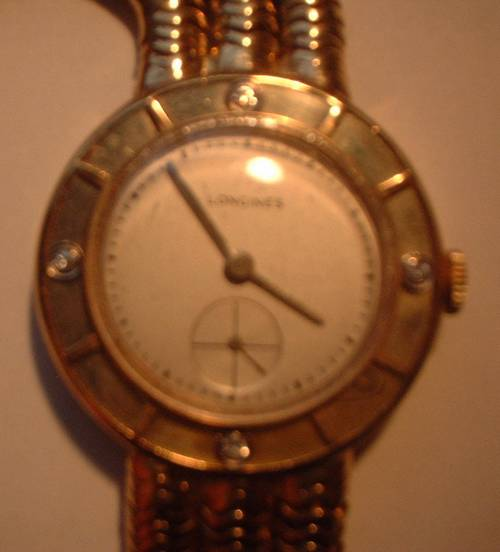 Longines 14k Gold Custom Men S Watch Very Elegant W