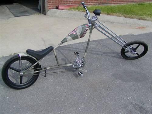 Chopper Lowrider Bike Army Motif Super Cool Ronsusser Com