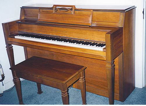 Hobart M Cable Console Piano With Matching Bench 1967