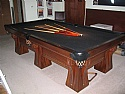 1915 Antique Brunswick 9 ft Professional Pool Billiards Table Arcade Restored
