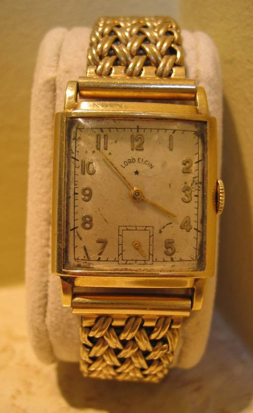 Vintage Lord Elgin Men S 14k Gold 21 Jewel Watch 1940 S Watches Ronsusser Com
