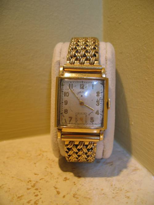vintage lord elgin men�s 14k gold 21 jewel watch 1940�s