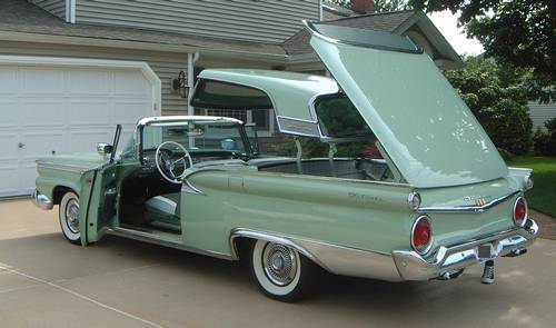 1959 Ford Fairlane 500 Galaxie Skyliner Hardtop Retractable Show Car Ronsusser Com