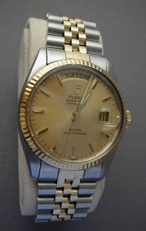 Rolex Tudor Date Day Two Tone Prince Man S Watch