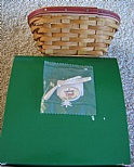 Longaberger 2005 Red Tinsel Tree Trimming Basket - NIB with Tie On
