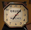 Gruen Clock Vintage Octagonal Shape Great Condition 1920's