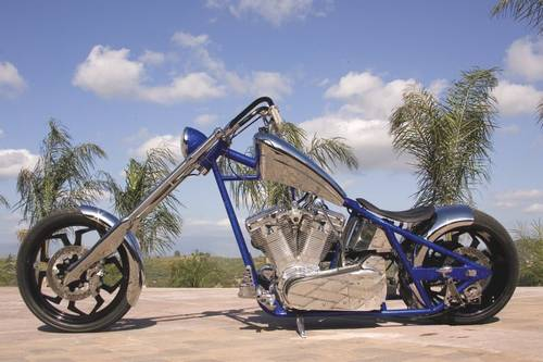 bill goldberg 2005 west coast chopper dominator custom 131. Black Bedroom Furniture Sets. Home Design Ideas