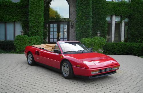 1989 ferrari mondial t cabriolet red tan 29k miles one of the best around. Black Bedroom Furniture Sets. Home Design Ideas