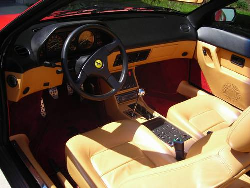 1989 ferrari mondial t cabriolet red tan 37k miles one of the best around. Black Bedroom Furniture Sets. Home Design Ideas