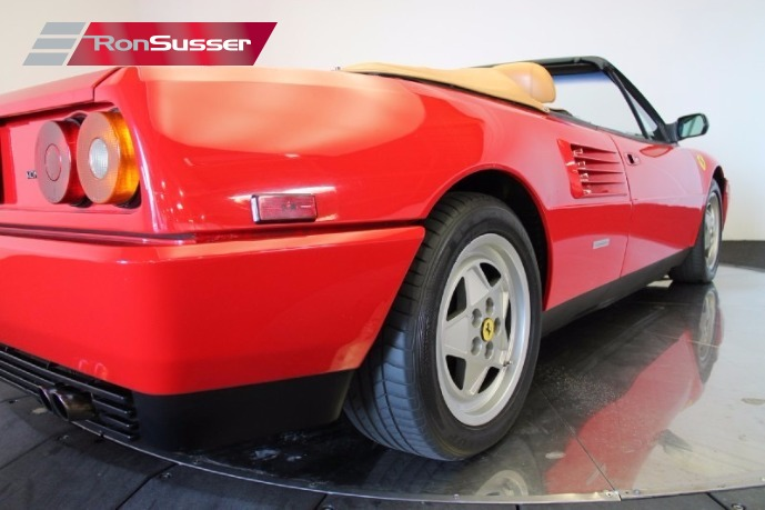 1989 ferrari mondial t cabriolet red tan 37k miles one. Black Bedroom Furniture Sets. Home Design Ideas