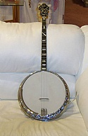 1930's Bacon & Day 4 String Tenor Banjo Silver Bell Swing Model Rare