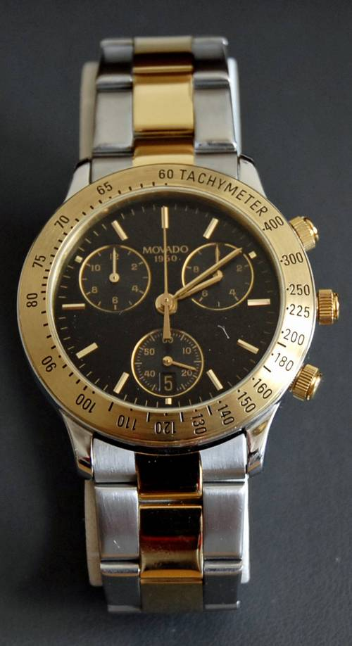 Movado 1950 Quartz Chronograph Style 81a5863 Two Tone
