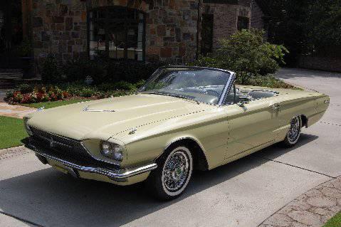 1966 Ford Thunderbird Convertible Restored Honeydew Yellow With