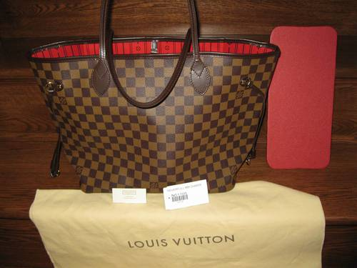 louis vuitton damier neverfull mm bag includes everything like new. Black Bedroom Furniture Sets. Home Design Ideas