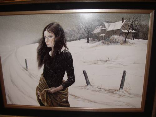 Pati Bannister Original Painting Snowfall Signed Other