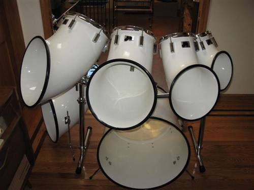 Vintage Set Of 6 North Drums With Hardware Plus Bonus