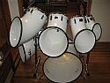 Vintage Set of 6 North Drums with Hardware plus Bonus Snare Mint Condition