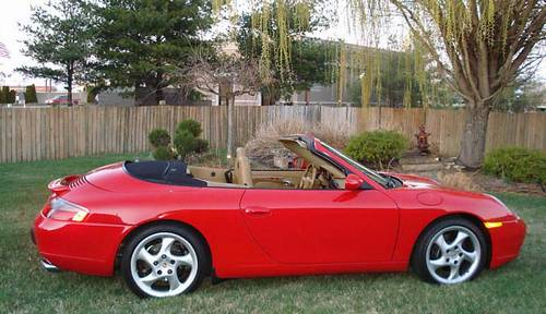 2000 Porsche 996 C2 Carrera Cabriolet Guards Red Savanna
