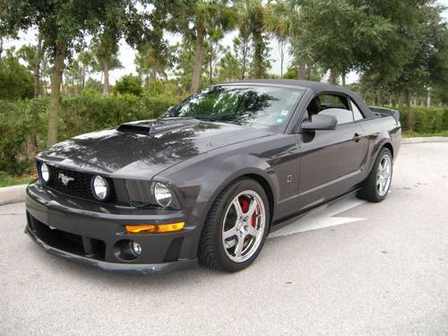 2007 roush mustang gt convertible 427r 16k miles stage 3 one of 5 alloy cars. Black Bedroom Furniture Sets. Home Design Ideas