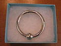 Tiffany & Co Authentic Teethnig Single Ring Rattle with Box and Bag 925 Sterling Silver
