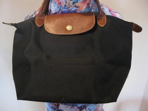 Longchamp Le Pliage Small Folding Black Handbag Made in France ...
