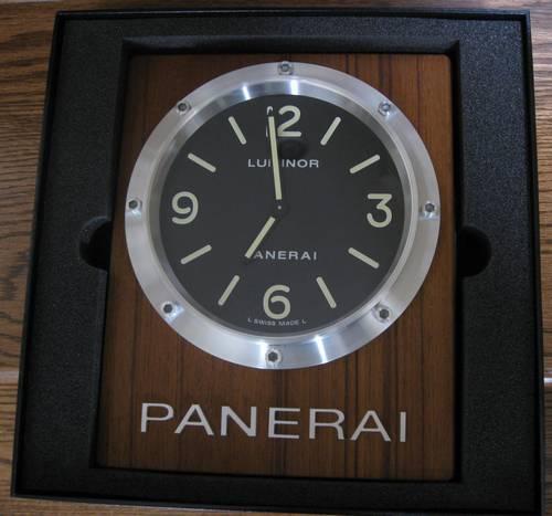 Panerai Pam 255 Teak Wall Clock Brand New All Boxes