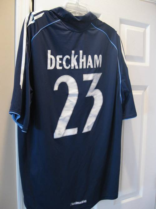 best website 121ca a60e1 Adidas David Beckham Real Madrid Siemens #23 Jersey XL ...