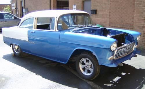 1955 chevy bel air street rod tri 5 project car. Black Bedroom Furniture Sets. Home Design Ideas