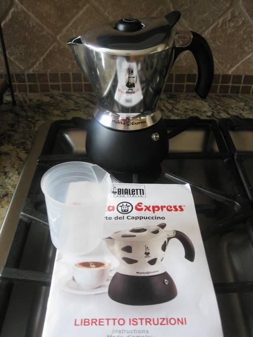 Bialetti Mukka Express 2 Cup Cappuccino Espresso Maker
