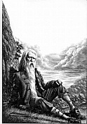 Mark Summers Original Scratchboard 'Rip Van Winkle'