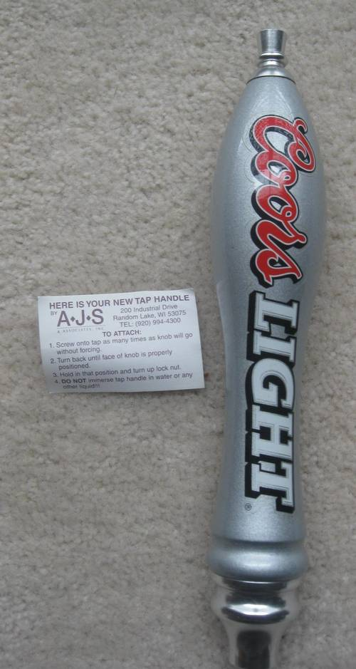 Coors Light Tap Handle Bnib Ronsusser Com