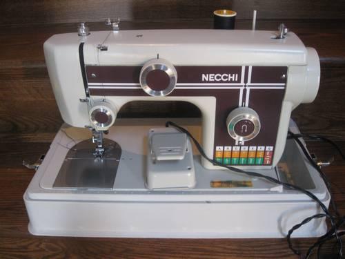 Necchi Model 40 Portable Sewing Machine With Carrying Case Unique Necchi Sewing Machine
