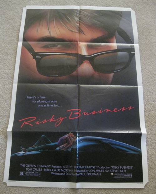 tom cruise movies posters. Available today is an original folded one sheet movie poster from the 1983 US release of Risky Business starring Tom Cruise