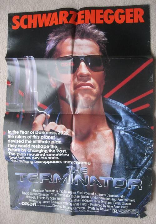 The Terminator Original Movie Poster 1984 Schwarzenneger Ronsussercom