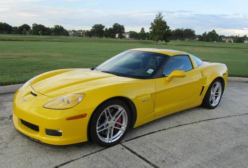 2008 corvette z06 yellow super condition loaded. Black Bedroom Furniture Sets. Home Design Ideas