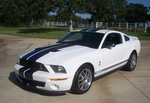 2007 Shelby Gt500 Coupe White Blue Stripe Warranty