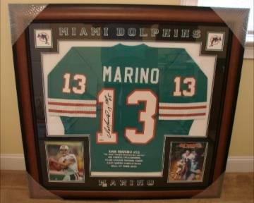 cheaper 6b277 eb76e Dan Marino NFL Miami Dolphins Hall of Fame Framed Jersey ...