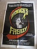 Frenzy by Alfred Hitchcock Original One Sheet Movie Poster 1972