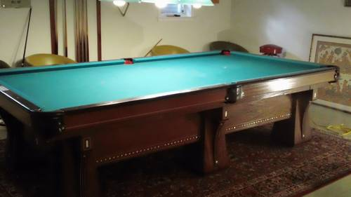 Brunswick arcade vintage 10 ft pool table 6 legs gorgeous for 10 foot pool table