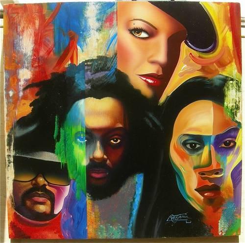 """Original Black Eyed Peas Titled '""""black Eyed Peas"""