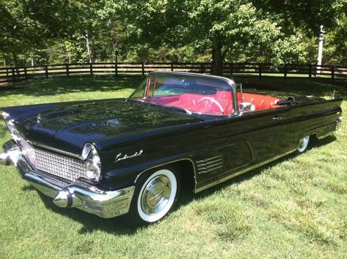 Available Today Is A Gorgeous 1960 Lincoln Continental Mark V Convertible Finished In It S Original Combination Of Presidential Black With Red Leather