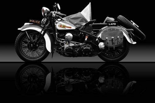 1938 Harley Davidson Uh 80 Police Motorcycle Sidecar Restored Slideshow