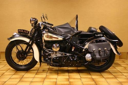 1938 Harley Davidson Uh 80 Police Motorcycle Sidecar Restored Fully