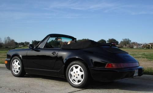 1991 Porsche 911 Carrera 2 Cabriolet Blacktan Super Low Miles New
