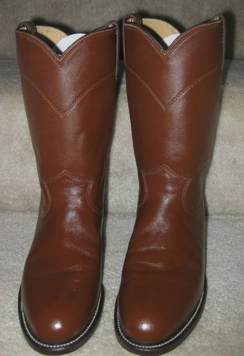Justin Roper Chestnut Tan Kiddie Smooth Leather Women S